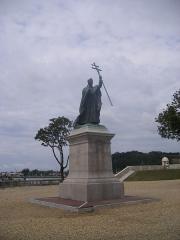 Ancien fort du Réduit de la place-forte de Bayonne -  Bayonne-Statue du Cardinal Lavigerie