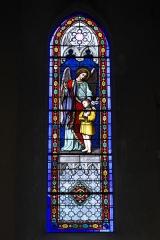 Eglise Saint-Jacques - Deutsch: Katholische Kirche Saint-Jacques in Pau im Département Pyrénées-Atlantiques (Région Aquitaine/Frankreich), Bleiglasfenster, Darstellung: Schutzengel