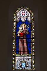 Eglise Saint-Jacques - Deutsch: Katholische Kirche Saint-Jacques in Pau im Département Pyrénées-Atlantiques (Région Aquitaine/Frankreich), Bleiglasfenster, Darstellung: Antonius von Padua