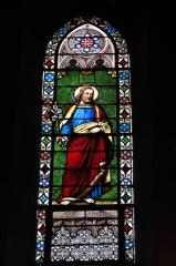 Eglise Saint-Jacques - Deutsch: Katholische Kirche Saint-Jacques in Pau im Département Pyrénées-Atlantiques (Région Aquitaine/Frankreich), Bleiglasfenster mit Signatur E. THIBAUD Clermont/F. 1864, Darstellung: hl. Joseph