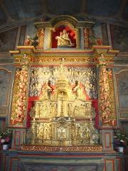 Eglise Notre-Dame - English: Halsou_(Pyr-Atl,_Fr) altar piece of church Notre-Dame-de-l'Assomption