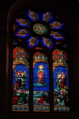 Eglise Saint-Jean-Baptiste -  Assumption of the Virgin, stained glass from the workshops of Charles-François Champigneulle, master glassmaker in Bar-le-Duc (1882)