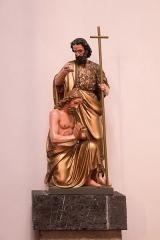 Eglise Saint-Jean-Baptiste -  Baptism of Christ by John the Baptist.