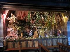 Eglise Saint-Etienne - English:   Nativity scene in the church Saint-Étienne-de-Baïgorry (Pyrénées-Atlantiques, France).