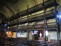 Eglise Saint-Etienne - English:   Galleries for the men in the church Saint-Étienne-de-Baïgorry (Pyrénées-Atlantiques, France).