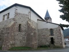 Eglise Saint-Etienne - English: Apse of the church Saint-Étienne-de-Baïgorry (Pyrénées-Atlantiques, France).