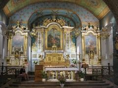 Eglise Saint-Etienne - English: Choir in the church Saint-Étienne-de-Baïgorry (Pyrénées-Atlantiques, France).