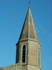Eglise Saint-Louis -  Vue du village de Rabastens-de-Bigorre dans les Hautes-Pyrénées (France):   Clocher de l'église
