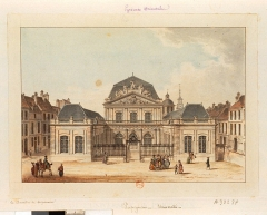 Ancienne université de Perpignan - English: Lespinasse, Louis-Nicolas de (1734-1808), Perpignan. Université dessin Famille Le Clerc, built by Augustin-Joseph de Mailly.