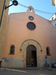 Eglise Saint-Mathieu - Català: Façana de llevant de l'església