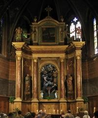 Eglise Saint-Mathieu - Català: Església de Sant Mateu (Perpinyà), altar major