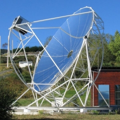 Four solaire d'Odeillo - English: DISH-STIRLING Research Project in Font-Romeu-Odeillo, France.