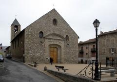 Eglise paroissiale Saint-Louis, située dans la ville - Deutsch: Der Kirche von Mont-Louis innerhalb der Festungsanlage im Oktober 2008