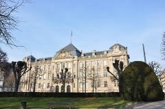 Ancien bâtiment ministériel (ouest) , actuellement Direction régionale des impôts, Direction des services fiscaux du Bas-Rhin (4 place de la République) , Trésorerie générale de la région Alsace et du département du Bas-Rhin (25 avenue des Vosges) -  L'hôtel des impôts, Strasbourg, France.