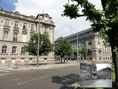 Ancien bâtiment ministériel (ouest) , actuellement Direction régionale des impôts, Direction des services fiscaux du Bas-Rhin (4 place de la République) , Trésorerie générale de la région Alsace et du département du Bas-Rhin (25 avenue des Vosges) -  Place Republique