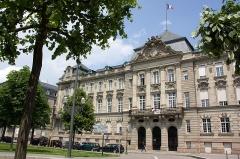 Ancien bâtiment ministériel (ouest) , actuellement Direction régionale des impôts, Direction des services fiscaux du Bas-Rhin (4 place de la République) , Trésorerie générale de la région Alsace et du département du Bas-Rhin (25 avenue des Vosges) -  Hôtel des impôts de Strasbourg (Strasbourg - Bas-Rhin - France)