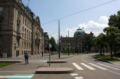 Ancien bâtiment ministériel (est) , Préfecture du Bas-Rhin -  Bibliothèque nationale et universitaire de Strasbourg (Strasbourg - Bas-Rhin - France)