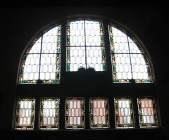 Synagogue - English: Synagogue de Schirmeck: vitrail