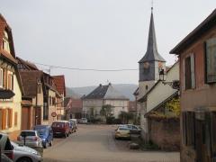 Eglise simultanée Saint-Etienne -  Alsace, Bas-Rhin, Wangen, Rue principale, Église simultanée Saint-Etienne.