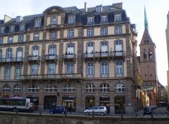 Bâtiments canoniaux -  Quai Kellermann with Lutheran Église Saint-Pierre-le-Jeune in the background, Strasbourg