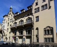 Palais des Fêtes - Deutsch: Sängerhaus Straßburg, Jugendstilfassade im unrestaurierten Zustand