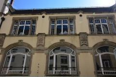 Palais des Fêtes - Deutsch: Sängerhaus Straßburg, Detailansicht der unrestaurierten seitlichen Fassade