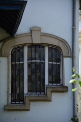 Villa dite Stempel - English: Detail of a 1903 Art Nouveau villa in Strasbourg