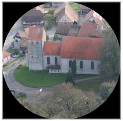 Eglise catholique Saint-Sébastien -  L'église à Obermorschwiller