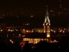 Eglise catholique Saint-Etienne - Français:   Eglise catholique Saint-Etienne de Cernay vue depuis Steinbach