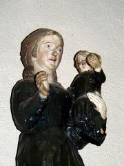 Eglise catholique Saint-Etienne - Français:   Statue de la Vierge de Birlingen, conservée dans l\'église de Cernay (Haut-Rhin, France)