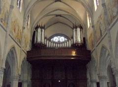 Eglise catholique Saint-Etienne - Français:   L\'orgue par Joseph Rinckenbach à partir de 1927 dans l\'église Saint-Étienne à Cernay