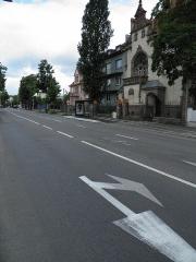Loge maçonnique de Colmar - Français:   Avenue Clemenceau à Colmar (Haut-Rhin, France).