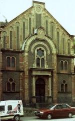 Patrimoine juif de la commune - Français:   La synagogue de Thann en mai 1991