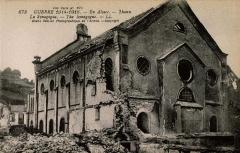 Patrimoine juif de la commune - Français:   Thann extérieur de la synagogue après le bombardement de janvier 1915