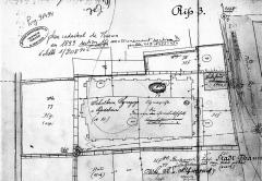 Patrimoine juif de la commune -  Thann plan cadastral synagogue et maison de bain