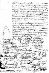 Patrimoine juif de la commune -  Thann synagogue acte notarié du 11 novembre 1843 Signatures