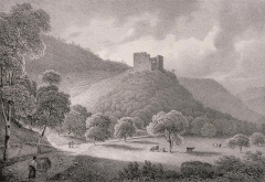 Ruines du château de Hugstein - French painter and lithographer