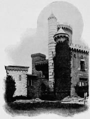 Château de Montmelas (également sur commune de Saint-Julien) - Français:   Dictionnaire illustré des communes du département du Rhône. Tome 2 / par MM. E. de Rolland et D. Clouzet.