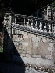 Domaine de Bellerive - Français:   Escalier monumental: côté gauche.