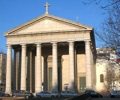 Eglise Saint-Pothin - Deutsch: Kath. Kirche Saint Pothin in Lyon, Frankreich; Vorderseite