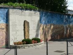 Prison Montluc -  Le mur peint de la prison de Montluc,  Lyon