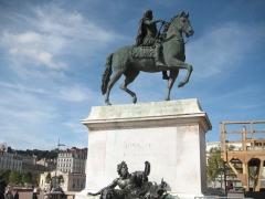 Statue de Louis XIV - Deutsch: Ludwig XIV in der Pose eines römischen Imperators in Lyon