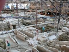 Ancienne église Saint-Martin - English: Excavation; place Saint-Pierre in Luxeuil-les-Bains (Haute-Saône, France)
