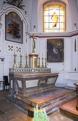 Eglise de l'Assomption - Français:   Maître Autel de l\'eglise de Noidans, provenant de l\'ancienne Abbaye de Bellevaux