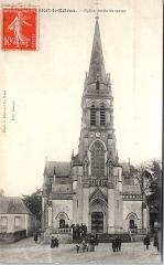 Eglise Notre-Dame - Français:   Vue de l\'église Notre-Dame de Monfort-le-Rotrou vers 1910.