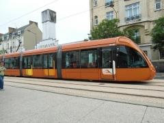 Autogare de la S.T.A.O. (Société des transports automobiles de l'Ouest) -  Details der Straßenbahnfahrzeuge in Le Mans - Ansichten von innen und außen