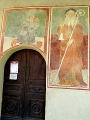 Eglise, chapelles et oratoires - Bessans - Chapelle Saint-Antoine - Entrée et peinture représentant saint Antoine