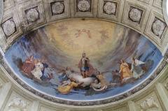 Eglise de Saint-Ferréol située au centre bourg - Français:   Voute peinte de l\'église Saint-Ferréol (août 2018).