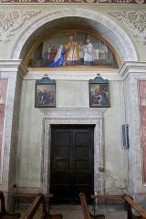 Eglise de Saint-Ferréol située au centre bourg - Français:   Peinture murale de l\'église Saint-Ferréol, représentant l\'un des 7 sacrements de l\'église.