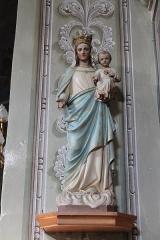 Eglise de Saint-Ferréol située au centre bourg - Français:   Statue de la Vierge à l\'Enfant de l\'église Saint-Ferréol (août 2018).